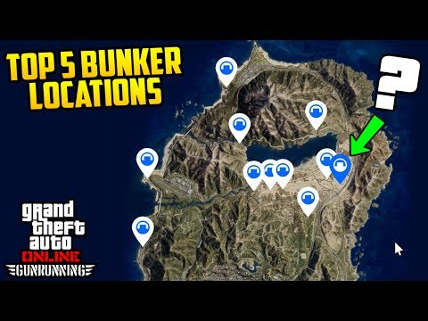 TOP 5 BUNKER LOCATIONS + ALL INTERIOR CUSTOMIZATION! (GTA Online Gun Running DLC)