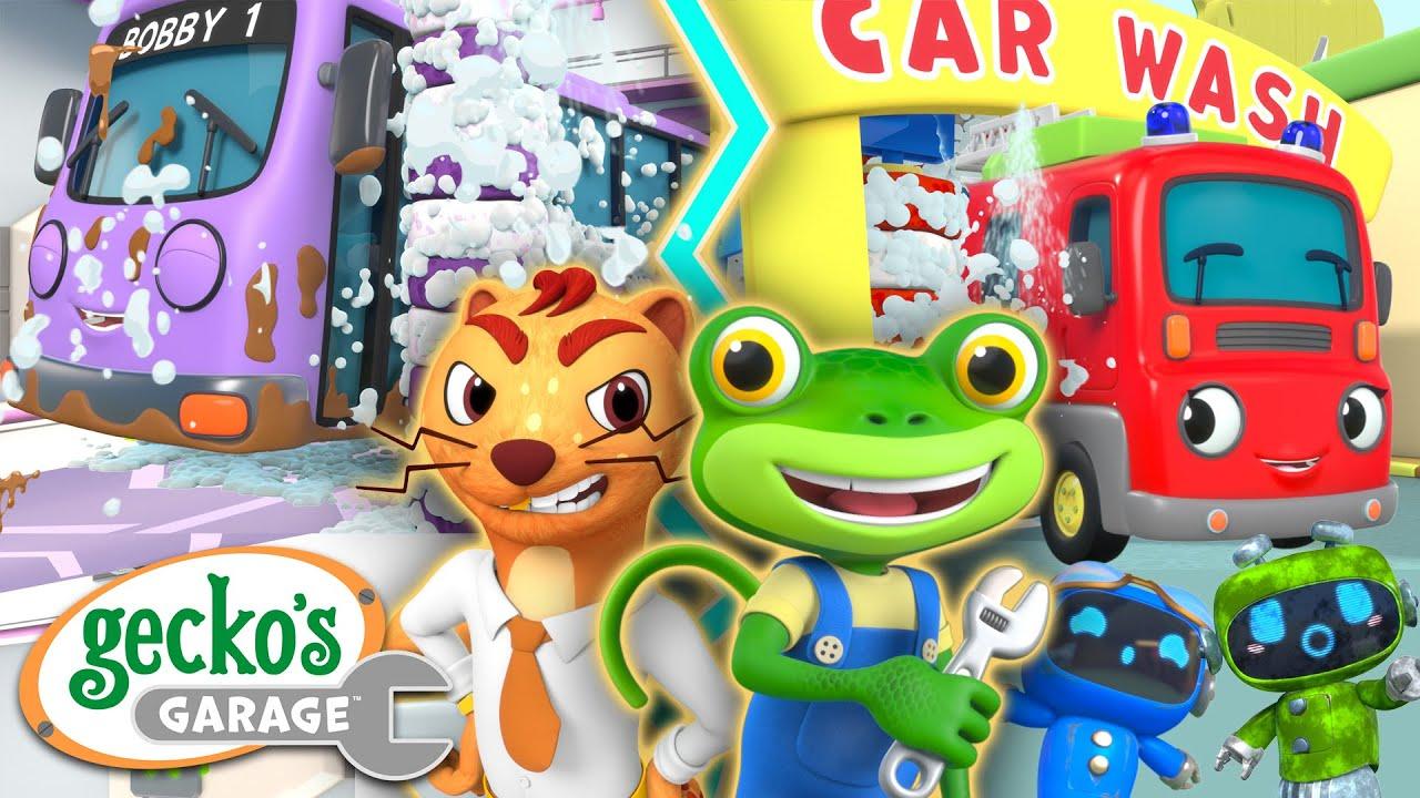 Car Wash Competition | Gecko's Garage | Trucks For Children | Cartoons For Kids