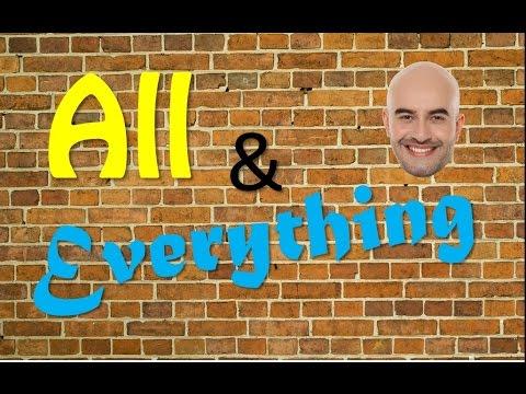 All y Everything en Inglés MUY FÁCIL