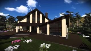 Индивидуальный жилой дом и баня из кирпича(Архитектурно - дизайнерская мастерская ArchMasters http://archmasters.ru/, 2014-05-09T12:29:55.000Z)