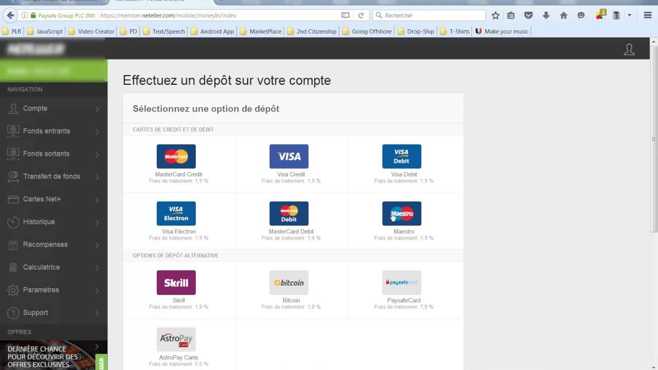 Carte Bancaire Neteller.Presentation Compte Neteller Comment Utiliser Votre Compte Et Carte Mastercard Neteller
