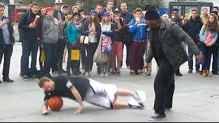 Black Guy Attacks London Street Performer