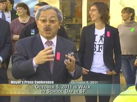 Mayor Edwin M. Lee Joins Marshall Elementary School Students to Participate in Walk to School Day