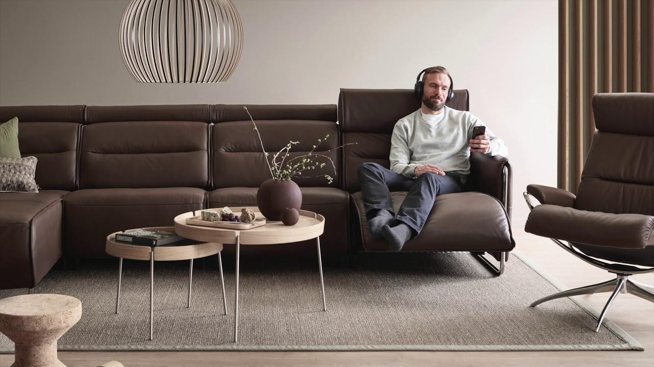 Stressless Emily Modernes Elektrisches Sofa Youtube