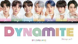 BTS (방탄소년단) - DYNAMITE (Midnight Remix) (Color Coded Lyrics Eng)