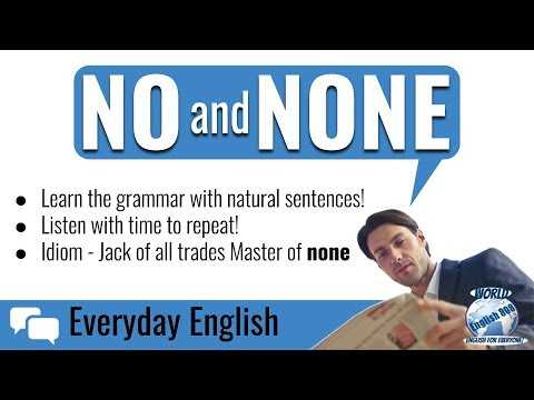 Learn how to use No and None correctly (Easy English Grammar)