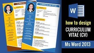 Cara membuat cv di Ms Word 2013