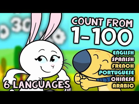 Counting to 100 | 6 Languages: English, Spanish, French, Chinese, Portuguese, & Arabic