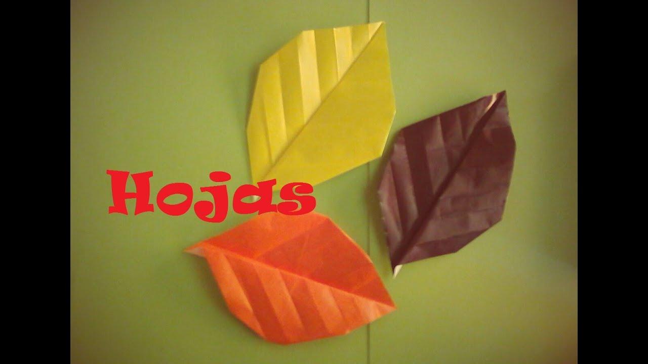 Origami papiroflexia hoja de rbol muy f cil youtube for Arboles para veredas hojas perennes