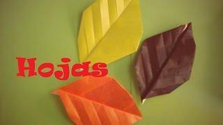 Origami - Papiroflexia. Hoja de árbol, muy fácil