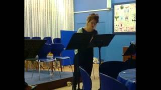 Rachel Weston sings