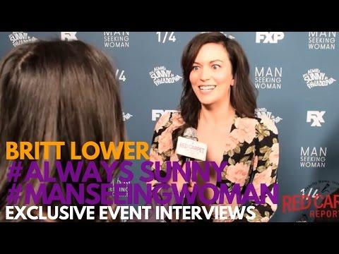 Britt Lower at the FXX Premiere for Man Seeking Woman Season 3