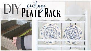 Plate Rack DIY ~ Plate Shelf Rack Idea ~ DIY Plate Rack