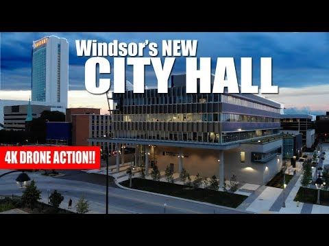 Windsor's New City Hall - Windsor, Ontario (DRONE)