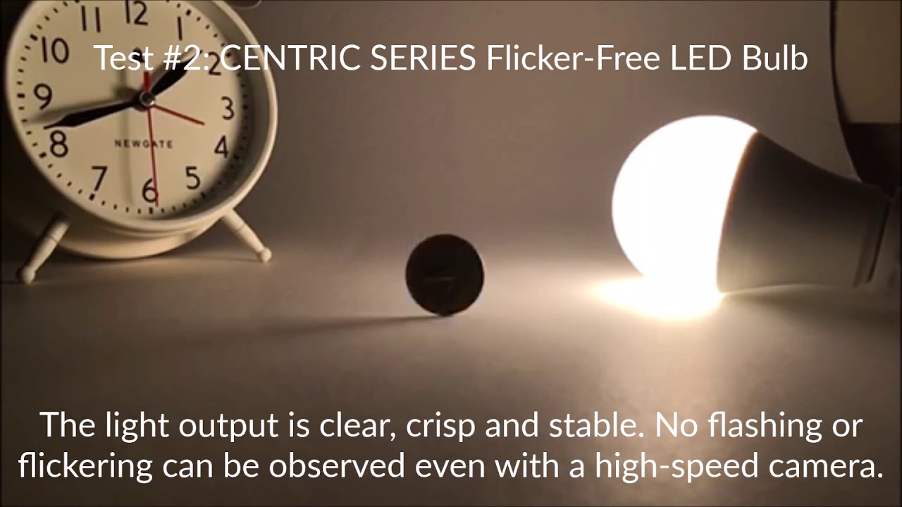 Flicker-Free LED Lighting Demonstration