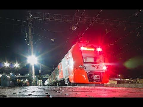 """Перегонка электропоезда ЭС1П-002 """"Ласточка"""" в Агрызе"""