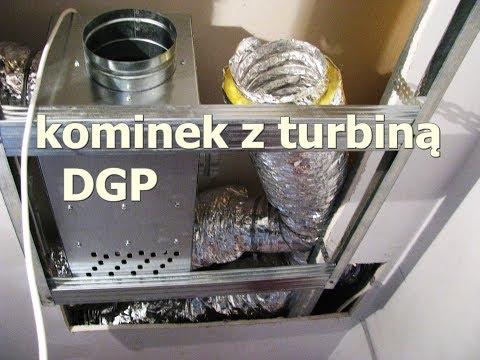 Kominek z rozprowadzeniem ciepła DGP - turbina, jak zrobiłem/ fireplace with a turbine