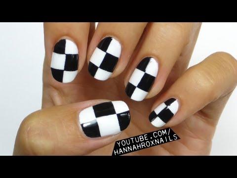 EASY Checkerboard Nail Art