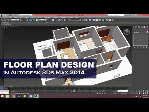 Easy Steps to Floor Plan Design in 3Ds Max (Hindi Tutorial)