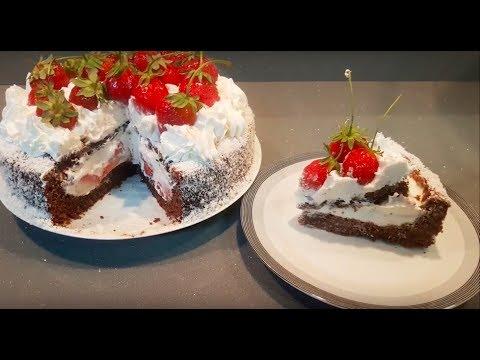gâteau-très-crémeux-à-la-fraise-rapide-et-facile