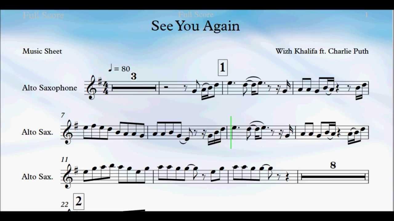 See You Again Alto Sax