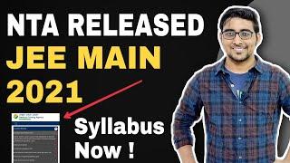 No change in Syllabus for Jee main 2021 & Neet 2021 | NTA RELEASED SYLLABUS | Breaking News Jee main