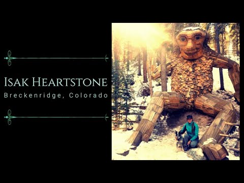 A Girl, Her Dog, and a GIANT Troll.  Isak Heartstone.  Breckenridge, Colorado.   ryxphlyx