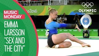 Sex and the City Theme - Emma Larsson's Artistic Gymnastics performance from Rio 2016 | Music Monday