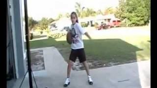 10yr old girl's amazing basketball skills