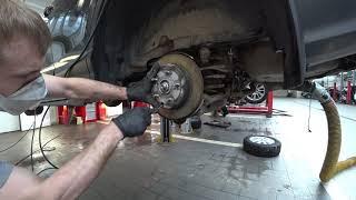 Тойота Центр Люберцы. RAV-4. Обслуживание механизмов ручного тормоза.