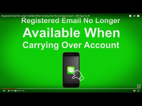Registered Email No Longer Available When Carrying Over My Line App Account - LINE App Tip #2