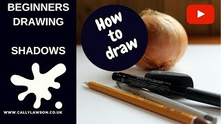 Drawing for beginners - how to draw shadows - easy still life