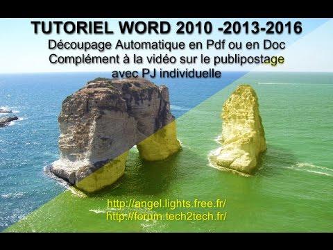 Découpe en pdf ou doc pour Publipostage - Cutting in pdf or doc for Mailing