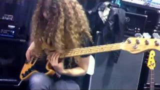 2012 NAMM Show - Tal Wilkenfeld at the EBS booth.
