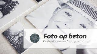 BETONPRINT.NL |  De details van een foto op beton.