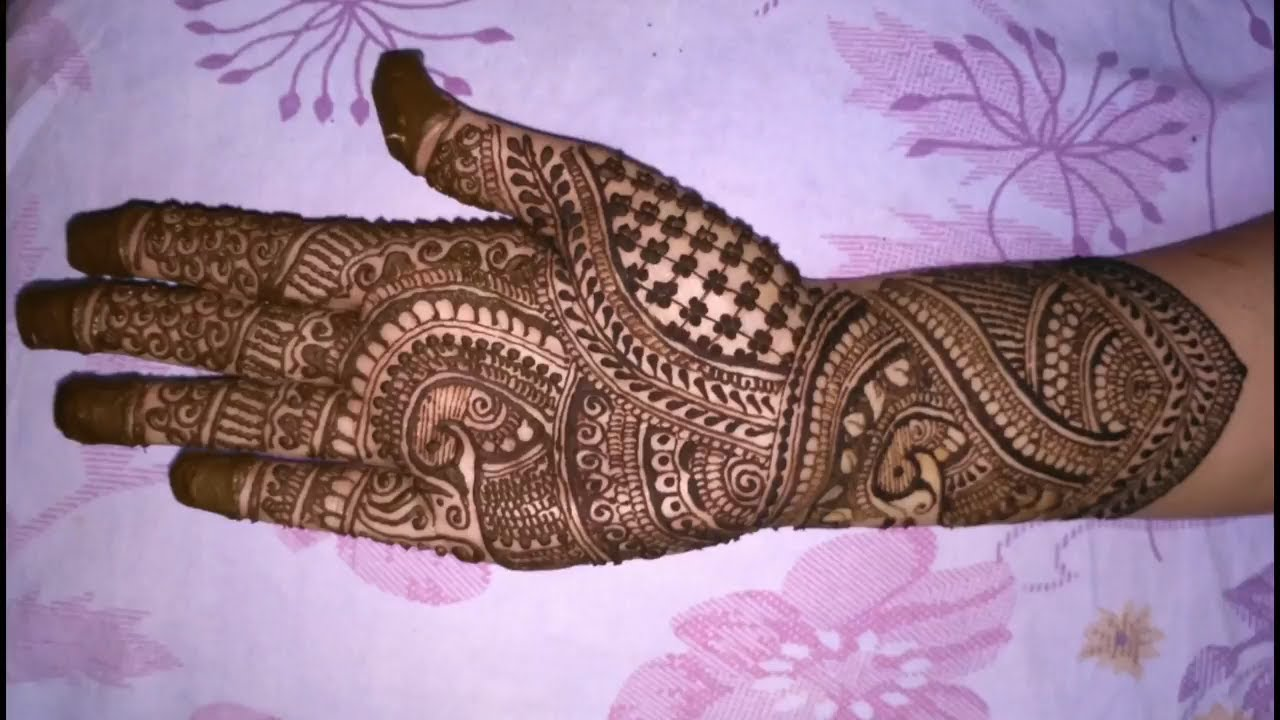 Mehndi Designs Learning Hands : Simple dulhan mehndi design full hand designs tutorial step