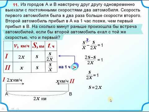 Егэ задачи на движение 11 с решением решении задачи по вэд