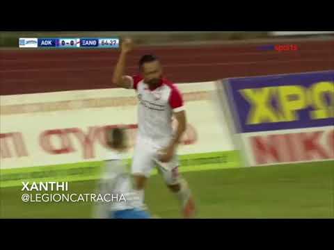 Primer Gol de Alfredo Mejía con el Xanthi 2017/2018