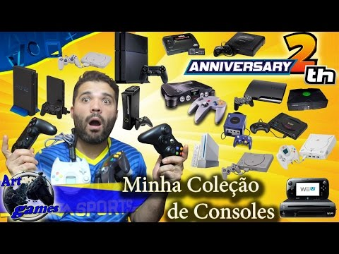 Minha coleçao de consoles (especial de 2 anos canal Art Games)