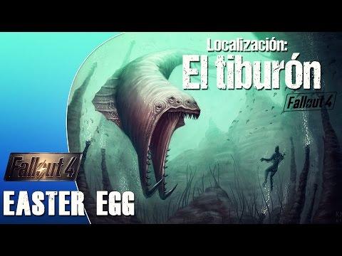 Localización MONSTRUO MARINO en Fallout 4 (EASTER EGG JAWS)
