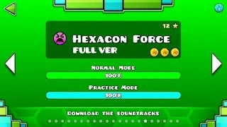 Geometry Dash - Hexagon Force (FULL VER) All Coin / ♬ Partition