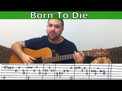 Fingerstyle Tutorial: Born to Die - Guitar Lesson w/ TAB