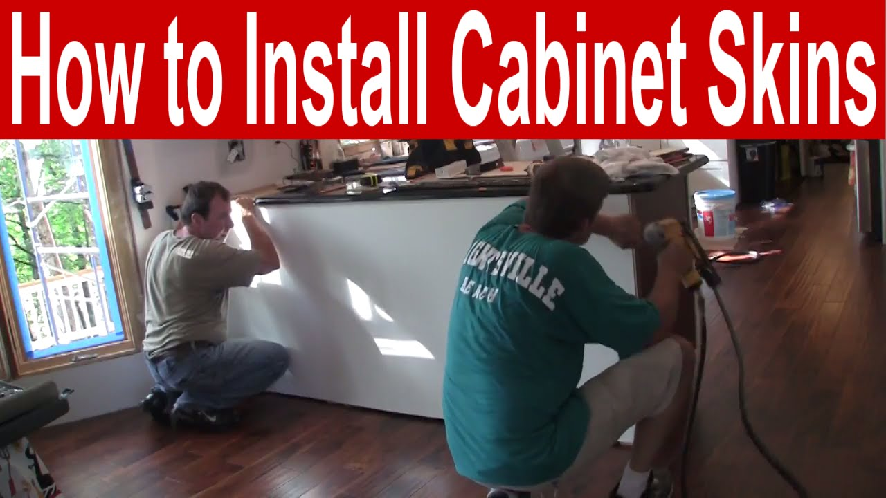 how to install kitchen cabinet skins youtube rh youtube com Cabinets for Kitchen Wraps Cabinet Skins Refacing