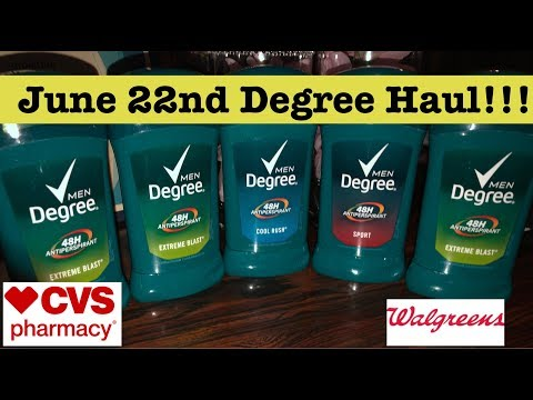 CVS & Walgreens Extreme Couponing Haul | June 22nd | Cheap Degree Deodorant!!!