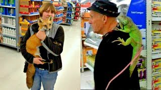 20 Walmart People with Strange Pets in the Store [Part 2]
