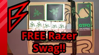 Free swag from Razer w/ any purchase! L33t Pack V3