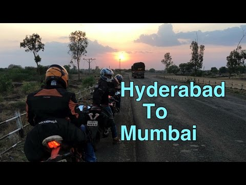 Hyderabad to Mumbai | Mumbiker nikhil
