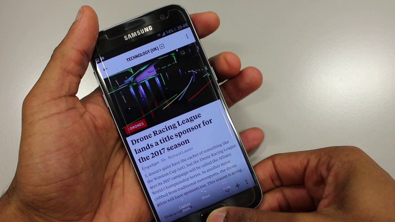 S7: How to Take Screenshot - 2 Ways Samsung Galaxy S7 / Edge