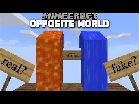 Minecraft OPPOSITE WORLD MOD / PLAY IN A WORLD THAT DOESN'T MAKE SENSE!! Minecraft