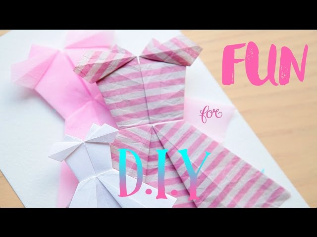 Homemade Origami Card to Make - Cute Dress Design with Photo ... | 480x640